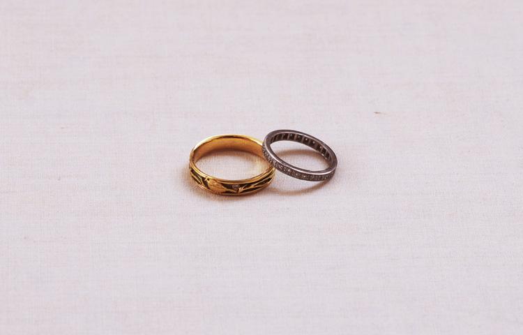 サモとタマミの結婚指輪
