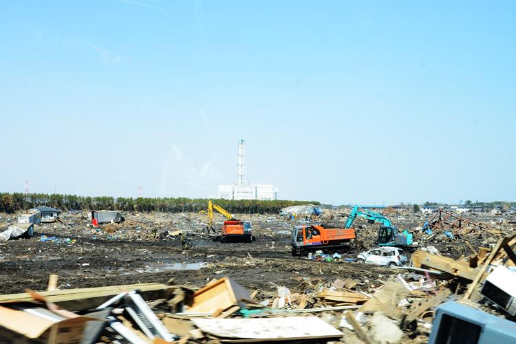 津波被害後の相馬市