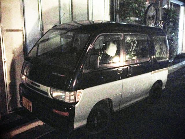 PEDAL DAY参加スタッフの方の軽ワゴン