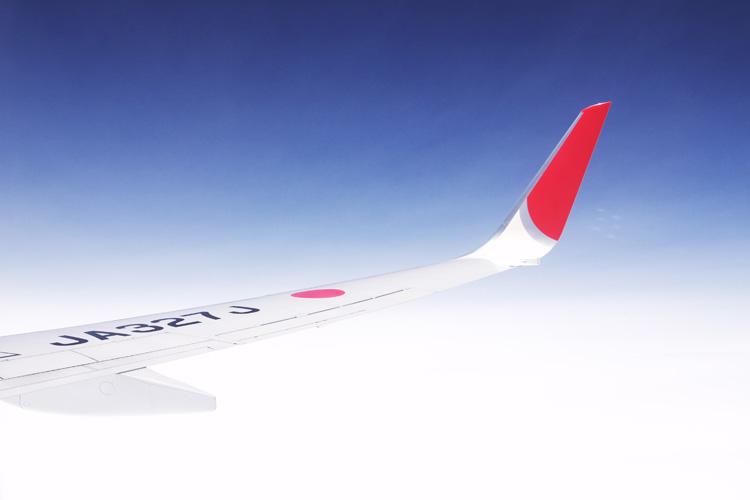 九州旅行01JALの飛行機