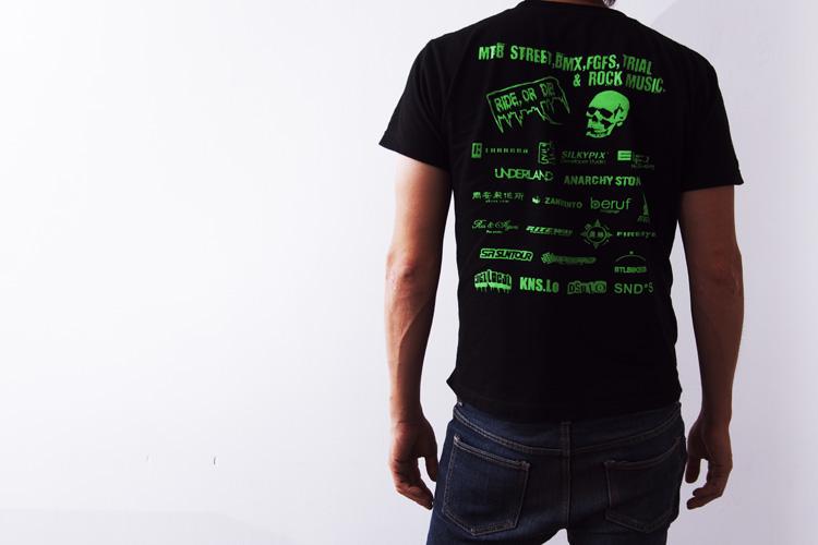 BUNNY HOP CAMP Tシャツ BLACK Sサイズ 後