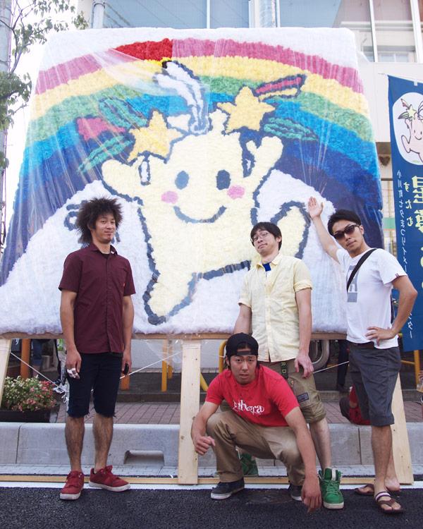 小川町七夕祭りイメージキャラ「星夢(すたむ)」ちゃんと一緒に