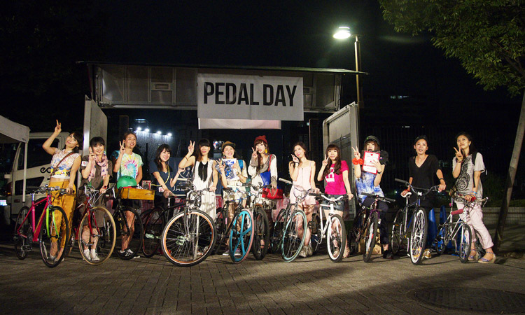 PEDAL DAY 2012 Bicycle Beautyの参加者達