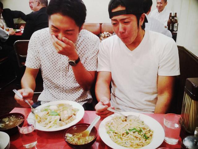 代々木の中華料理屋さんで夕食