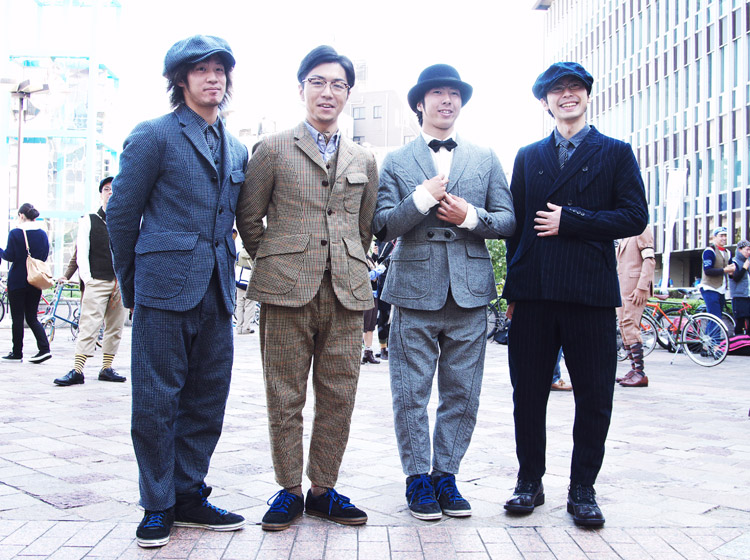 TWEED RUN TOKYO(ツイードラン東京)でショーをしたTUBAGRAライダー達