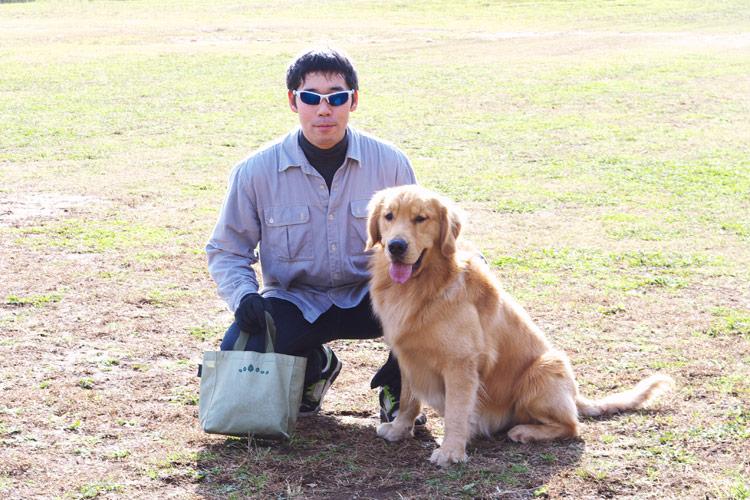 秋ヶ瀬の森バイクロアでけんぷっぷさんと愛犬すばる