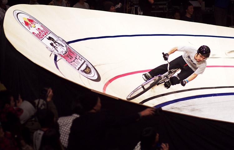 Red Bull Mini Dromeを走るTeppeiさん
