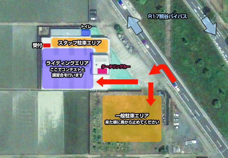 埼玉イベントスペースR17の駐車場