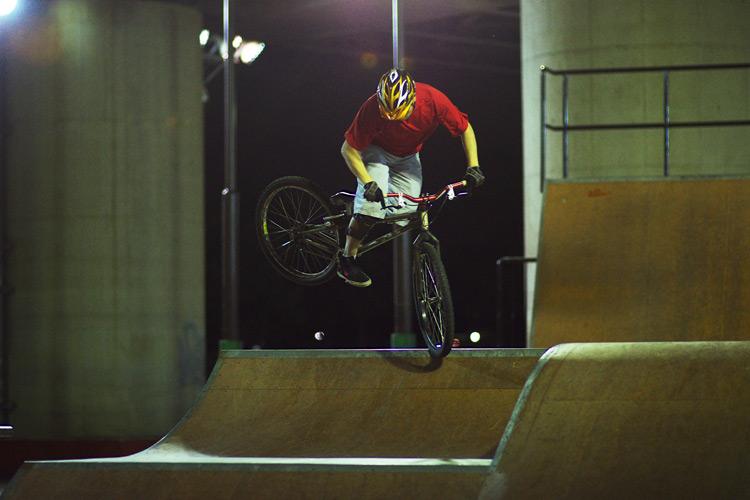 新横浜スケートパークの水野君のスパイン