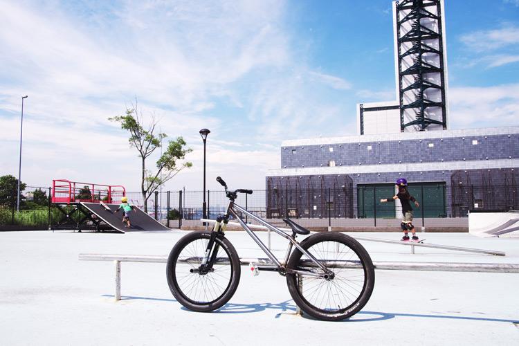 梅雨の合間の城南島スケートパーク
