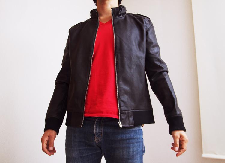 新しく購入したシングルライダースジャケット