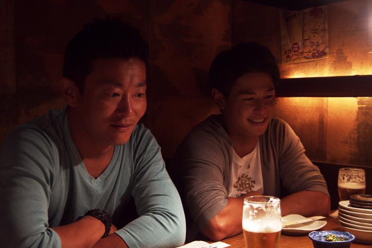 ラフティングチームテイケイの池田拓也選手とカヌー日本代表選手の吉田拓選手