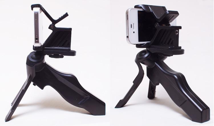 サンワダイレクト iPhone・スマートフォン用三脚スタンド ハンディ雲台