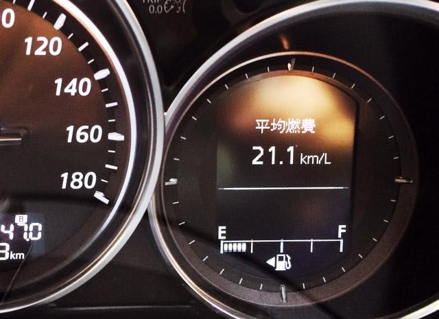 MAZDA CX-5の最高燃費21.1km/L