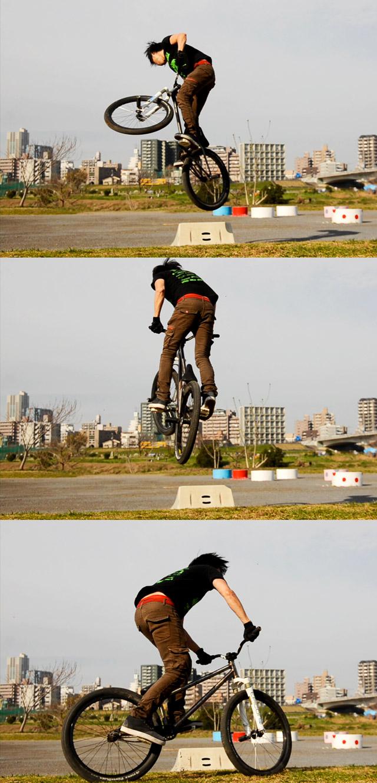 サモ河原360ジャンプ練習