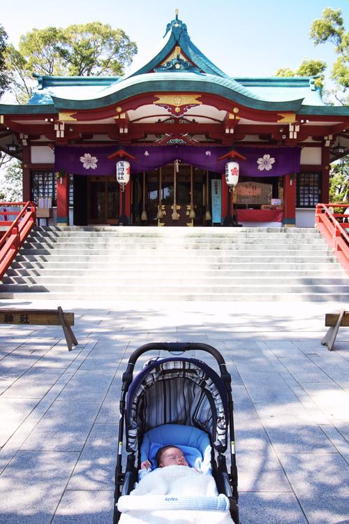 近所の浅間神社と叶大君