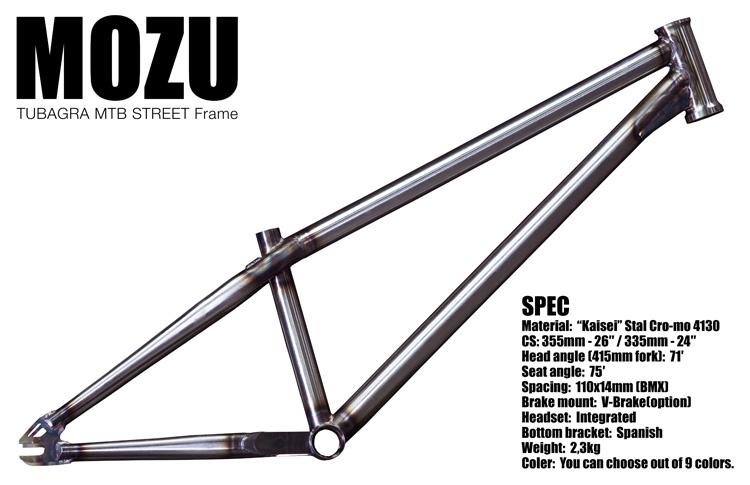 MOZUフレーム24インチホイール対応BMXエンド