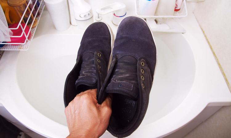 スケートシューズ(合皮スニーカー)の洗濯方法