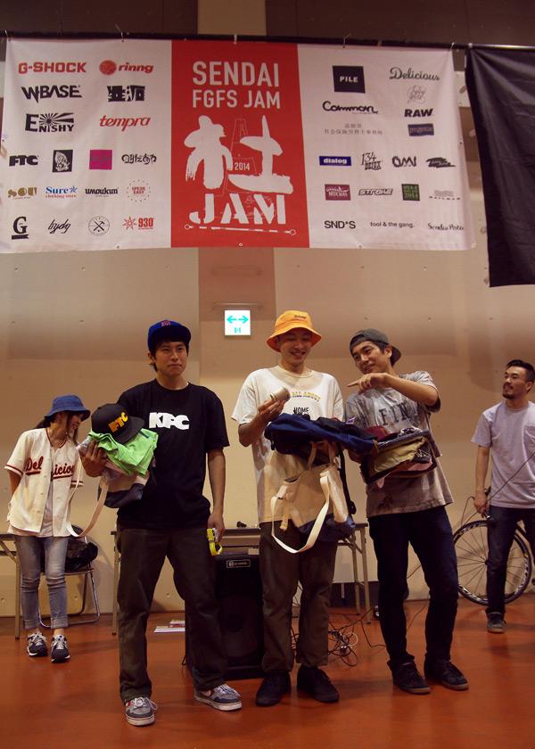 杜JAMの様子 優勝MARCO 2位トヨ 3位ファニー