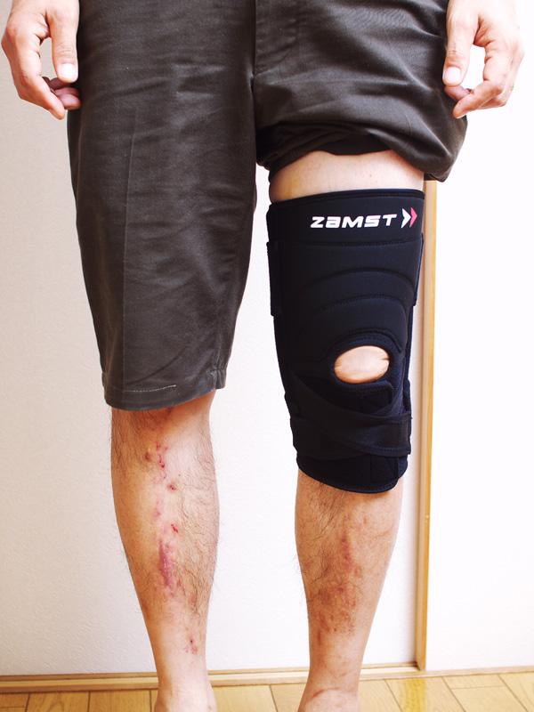 膝の前十字靭帯をサポートするザムスト(ZAMST)ZK-7