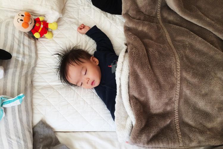 生後11ヶ月後の叶大 病気で寝ている