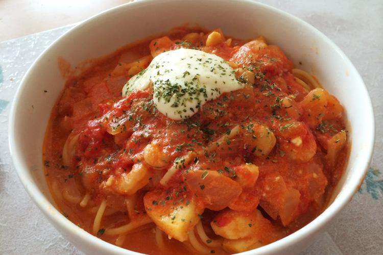 奥さんが作った超絶美味しいスープパスタ
