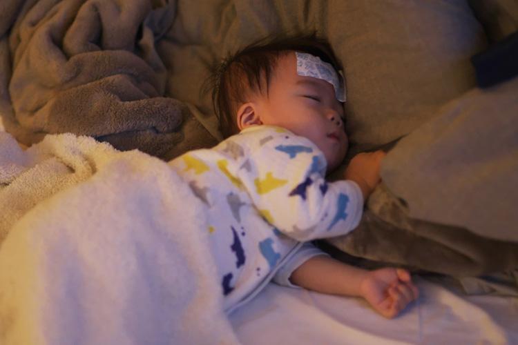 RSウイルス感染で寝こむ叶大