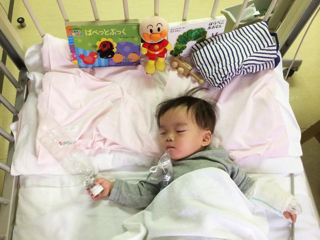 荏原病院で肺炎で入院して寝ている叶大
