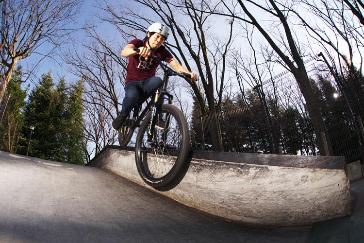 世田谷公園SLスケートパークでサモ自分撮りスミスグラインド