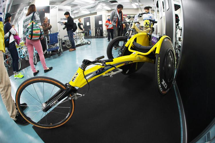 2015ハンドメイドバイシクル展オーエックスエンジニアリング競技用車いす