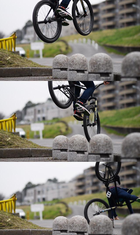 MTB マウンテンバイクSHAKA 多摩川河原サイクリングロード ウォーリー wallie失敗