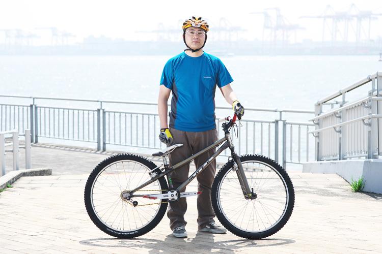 ストリートトライアルミーティング トライアルバイク MTB 水野君 MOZUバイク