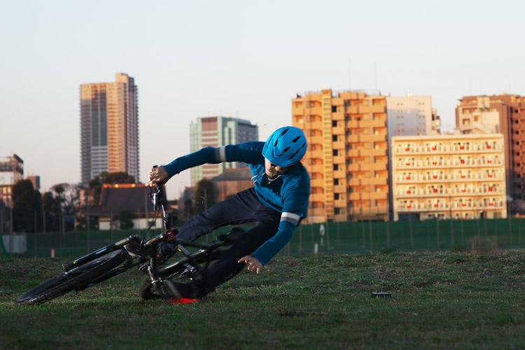 MTB マウンテンバイク YAMADORI 1st 26 多摩川河原サイクリングロード コーナリング カービング失敗