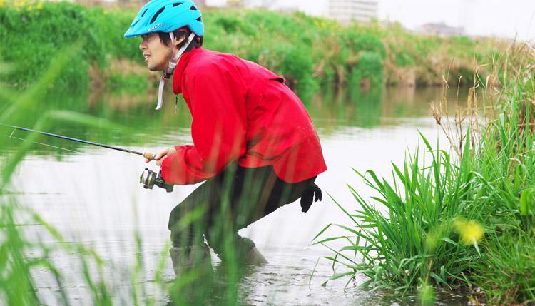 日本野鳥の会 Wild Bird Society of Japan バードウォッチング長靴 多摩川河原サイクリングロード ルアー バスフィッシング