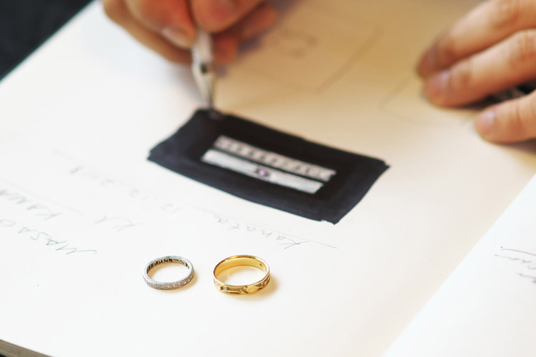 Rui & Aguri Fine Jewelryで打ち合わせ
