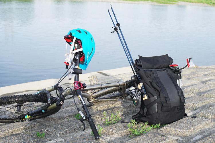 MTB マウンテンバイク YAMADORI 1st 26 多摩川河原サイクリングロード ルアー バスフィッシング beruf baggage MountainBackPack