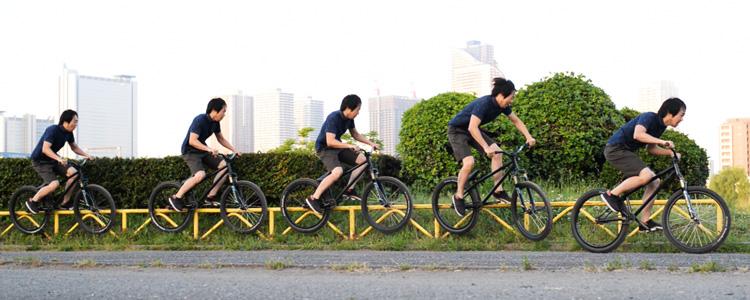 MTB マウンテンバイクSHAKA 多摩川河原サイクリングロード ハンドレールダブルペググラインド