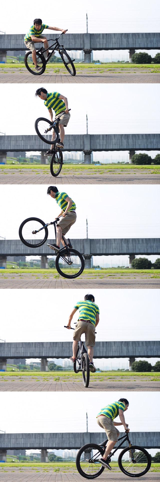 MTB マウンテンバイクSHAKA 多摩川河原サイクリングロード バニーホップロックウォーク