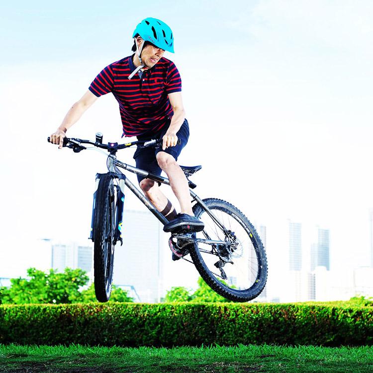 MTB マウンテンバイク YAMADORI 1st 26 多摩川河原サイクリングロード バンクバニーホップモトウィップ
