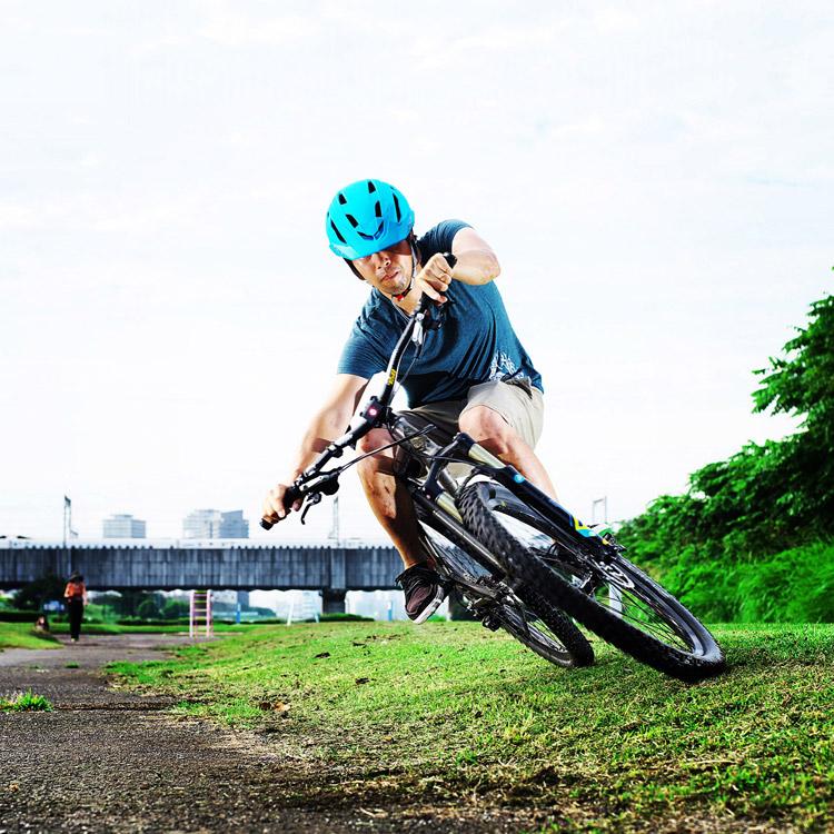 MTB マウンテンバイク YAMADORI 1st 26 多摩川河原サイクリングロード カービングターン