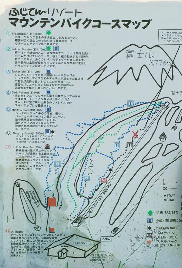 ふじてんのMTBコースマップ
