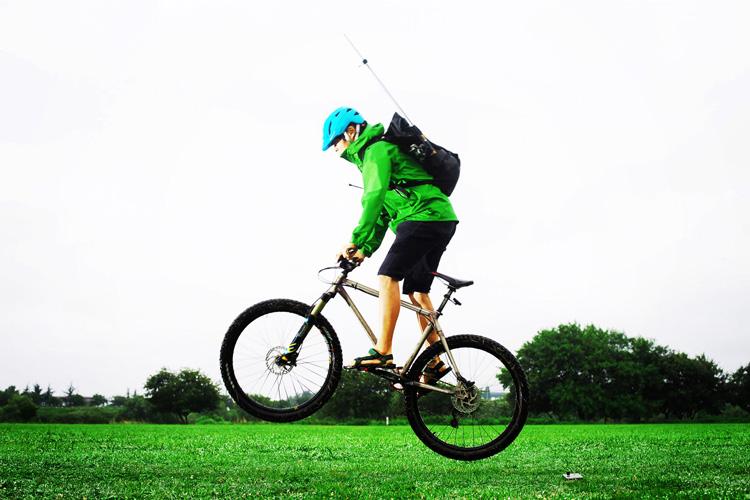 MTB マウンテンバイク YAMADORI 1st 26 多摩川河原サイクリングロード バニーホップ
