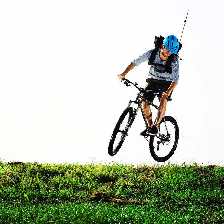 MTB マウンテンバイク YAMADORI 1st 26 土手バニーホップドロップ