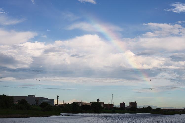 朝活BIKE & FISHで見た虹