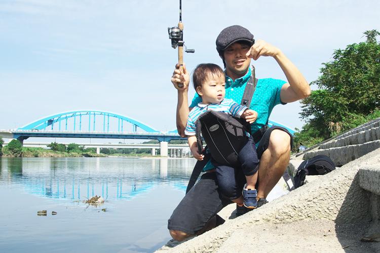息子と一緒にマハゼを釣りました
