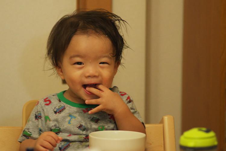 豆乳鍋を食べてハイテンションになる叶大