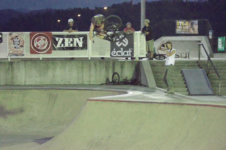 山形県寒河江スケートパークでOYA-Z BMX JAM 2015 YOUN-G Class ヤンジークラス/16歳〜25歳