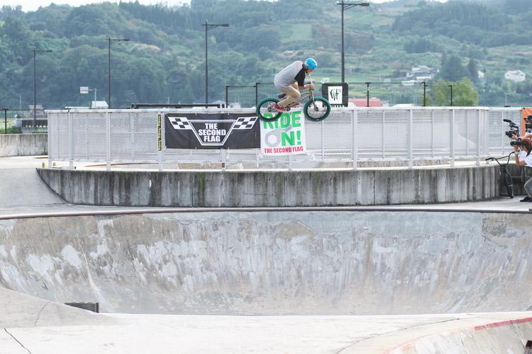 山形県寒河江スケートパークでOYA-Z BMX JAM 2015 OYA-Z Class オヤジークラス/35歳〜39歳