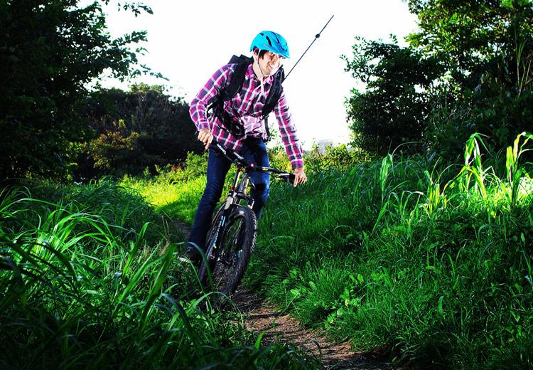 MTB マウンテンバイク YAMADORI 2nd 26 多摩川河原サイクリングロード ダートコースを鬼コギ