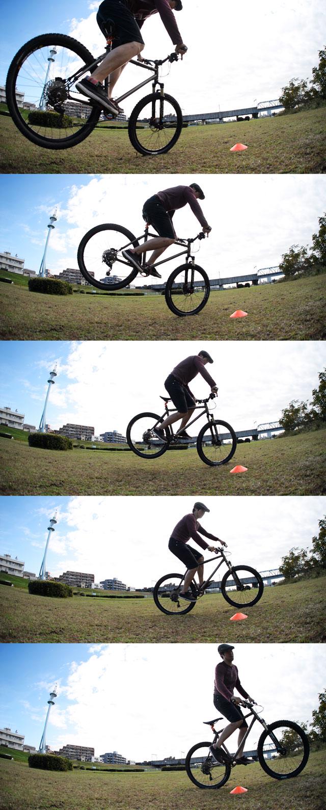 MTB マウンテンバイク YAMADORI 2nd 26 多摩川サイクリングロード ノーズマニュアルターン ジャックナイフカービング